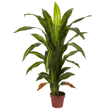 4 Dracaena Silk Plant Real Touch - SKU #6650