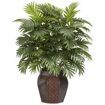 Areca Palm w/Vase Silk Plant - SKU #6651