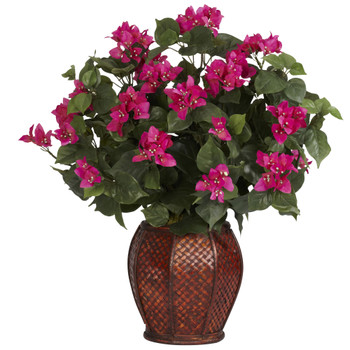 Bougainvillea w/Vase Silk Plant - SKU #6652