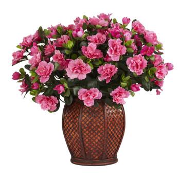 Azalea w/Vase Silk Plant - SKU #6653