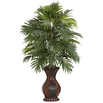 Areca Palm w/Urn Silk Plant - SKU #6661