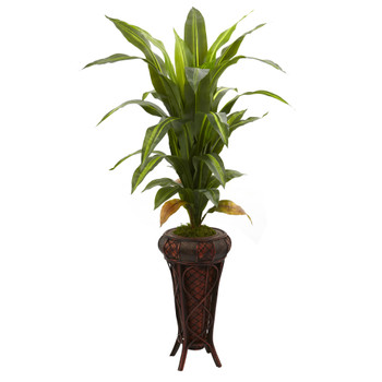 57 Dracaena w/Stand Silk Plant Real Touch - SKU #6671