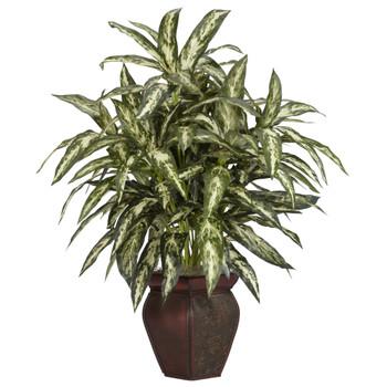 Aglonema w/Decortaive Vase Silk Plant - SKU #6673
