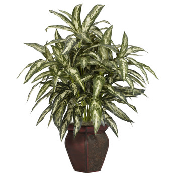 Aglonema w/Decortaive Vase Silk Plant - SKU #6673