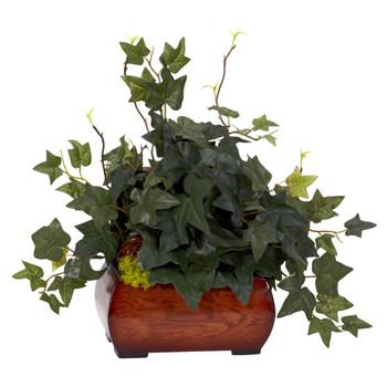Puff Ivy w/Chest Silk Plant - SKU #6683
