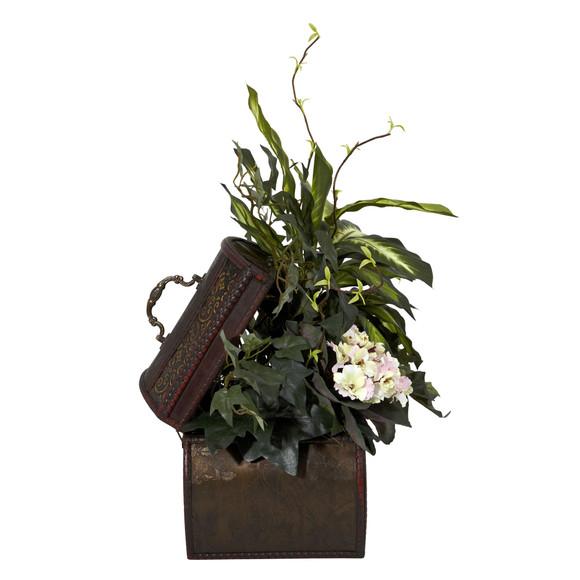 African Violet Dieffenbachia Ivy w/Chest Silk Plant - SKU #6684 - 1