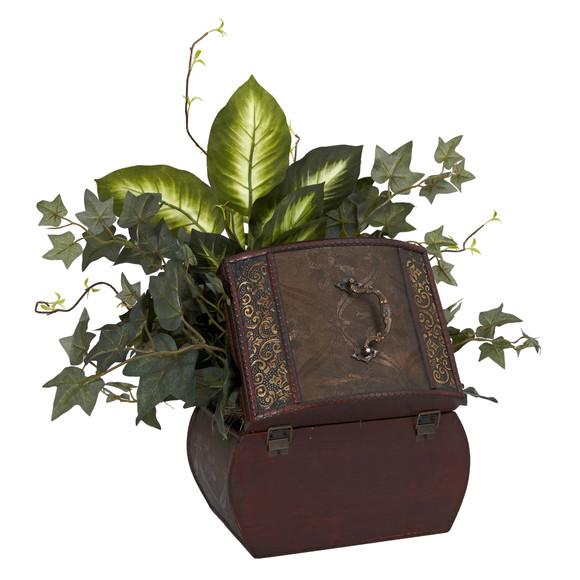 African Violet Dieffenbachia Ivy w/Chest Silk Plant - SKU #6684 - 2