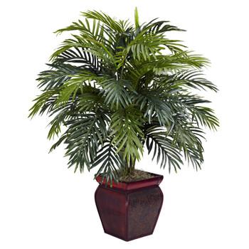 Areca w/Decorative Planter Silk Plant - SKU #6686