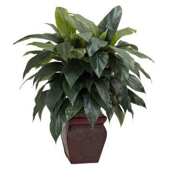 Cordyline w/Decorative Vase Silk Plant - SKU #6688