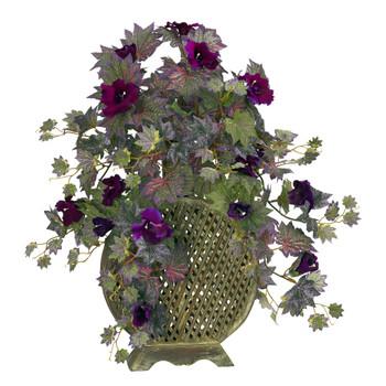 Morning Glory w/Decorative Vase Silk Plant - SKU #6692