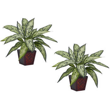 Silver Queen Silk Plant Set of 2 - SKU #6694-S2