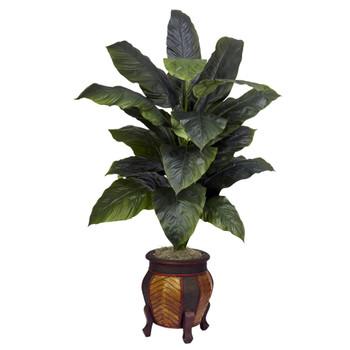 Giant Spathyfillum w/Decorative Vase Silk Plant - SKU #6695