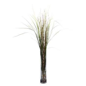 Grass Bamboo w/Cylinder Silk Plant - SKU #6699