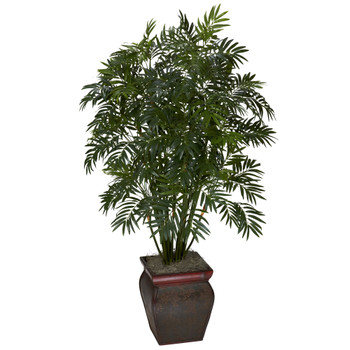 Mini Bamboo Palm w/Decorative Vase - SKU #6717