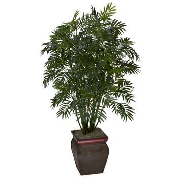 Mini Bamboo Palm w/Decorative Vase - SKU #6717