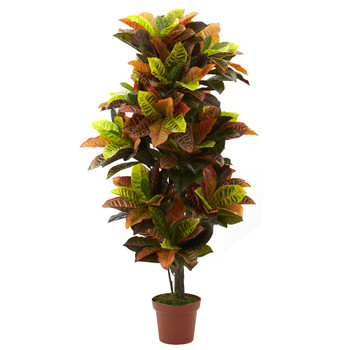 56 Croton Plant Real Touch - SKU #6721