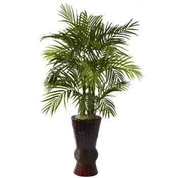 4 Areca w/Bamboo Planter - SKU #6723