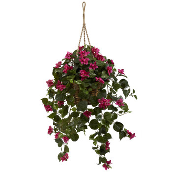 Bougainvillea Silk Hanging Basket - SKU #6734