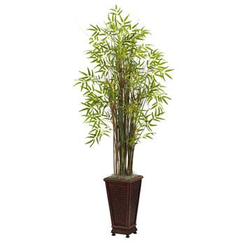 5.5 Grass Bamboo Plant w/Decorative Planter - SKU #6746