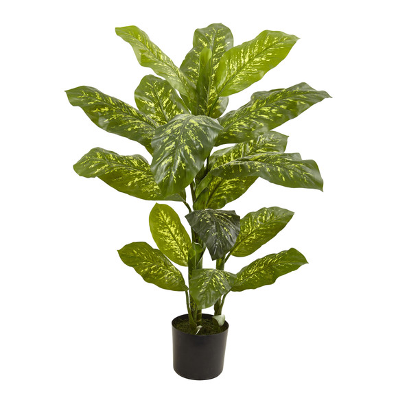 4 Dieffenbachia Plant Real Touch - SKU #6823