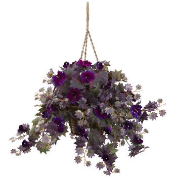 Morning Glory Hanging Basket - SKU #6842