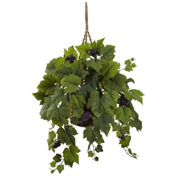 Grape Leaf Hanging Basket - SKU #6843