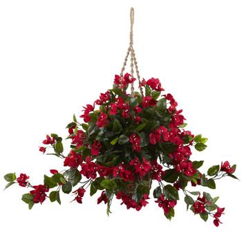 Bougainvillea Hanging Basket UV Resistant Indoor/Outdoor - SKU #6845-RD