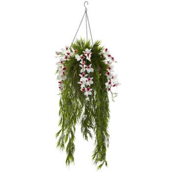 Bamboo Dendrobium Hanging Basket - SKU #6849