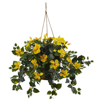 Hibiscus Hanging Basket - SKU #6866-YL