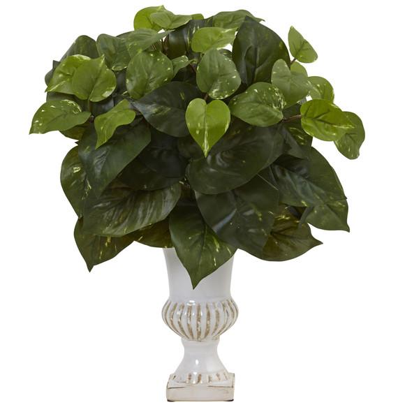 Pothos Silk Plant with Urn Set of 2 - SKU #6873-S2 - 1