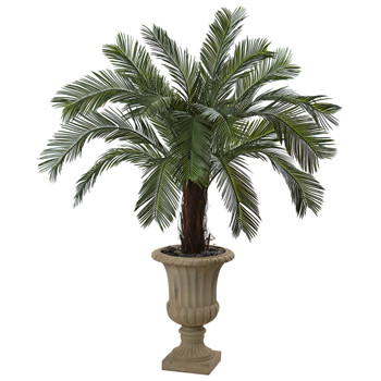 65 Cycas Artificial Plant in Urn UV Resistant Indoor/Outdoor - SKU #6879