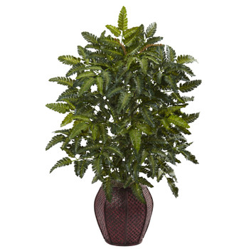 Bracken Fern with Decorative Planter - SKU #6887