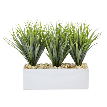 Vanilla Grass in Rectangular Planter - SKU #6915