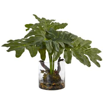Philodendron Arrangement with Vase - SKU #6917