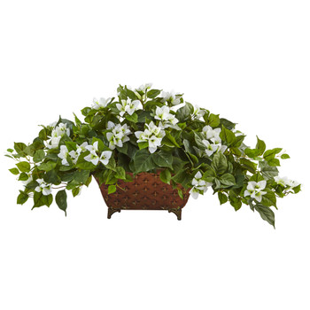 Bougainvillea in Metal Planter - SKU #6934