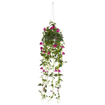 30 Petunia Hanging Basket Artificial Plant - SKU #6945