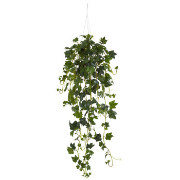 English Ivy Hanging Basket Artificial Plant - SKU #6947