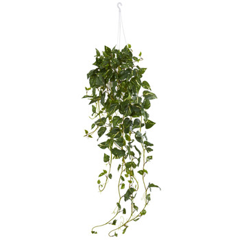 Pothos Hanging Basket Artificial Plant - SKU #6948