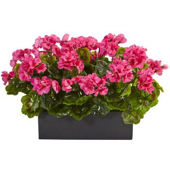 Geranium in Rectangular Planter UV Resistant Indoor/Outdoor - SKU #6949