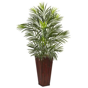 Areca Palm in Bamboo Planter - SKU #6968