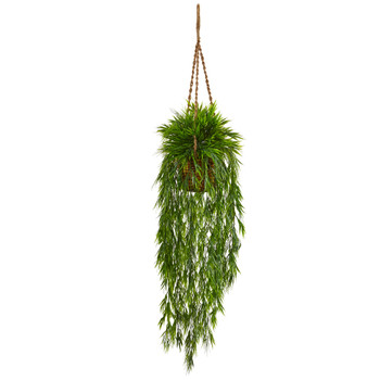 Mini Bamboo Hanging Basket - SKU #6978