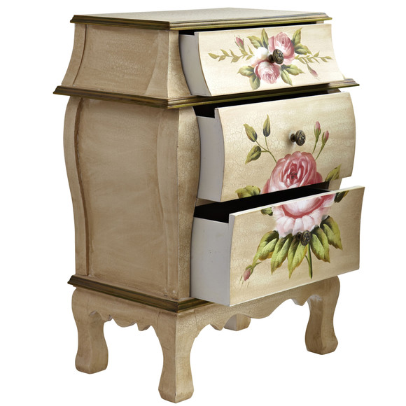 Antique Night Stand w/Floral Art - SKU #7012 - 1