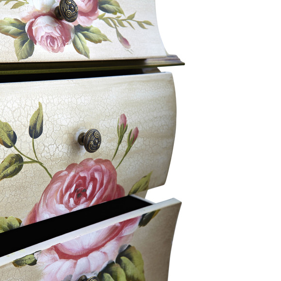 Antique Night Stand w/Floral Art - SKU #7012 - 3