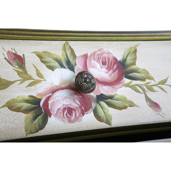 Antique Night Stand w/Floral Art - SKU #7012 - 5