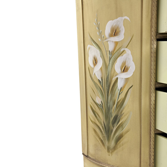 Antique Accessory Table w/Calla Lily Floral Art - SKU #7013 - 8
