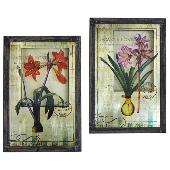 Framed French Floral Art Prints Set of 2 - SKU #7015-S2