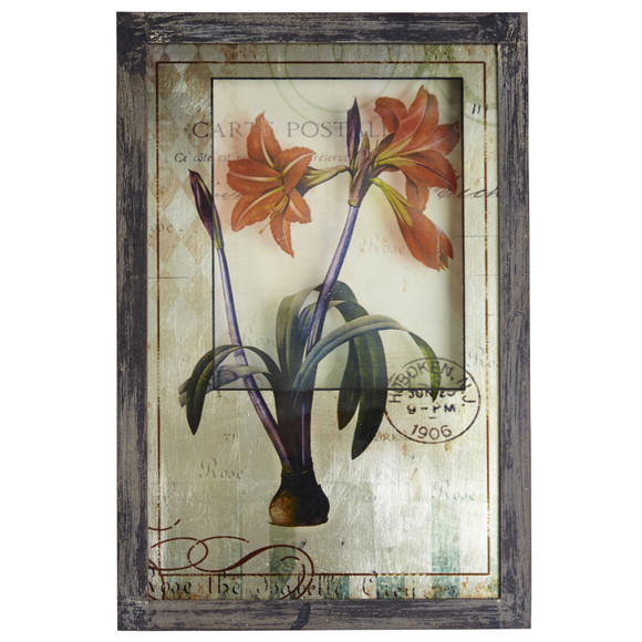 Framed French Floral Art Prints Set of 2 - SKU #7015-S2 - 1