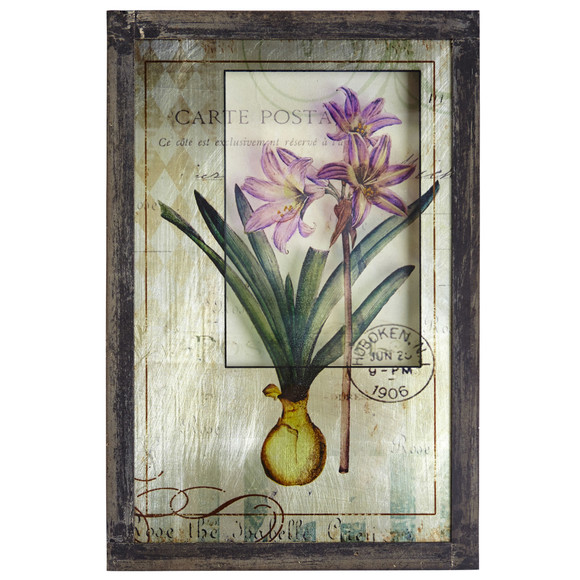 Framed French Floral Art Prints Set of 2 - SKU #7015-S2 - 2