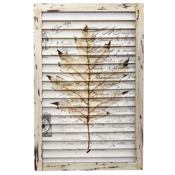 Maple Leaf Window Shutter Wall Dcor - SKU #7023