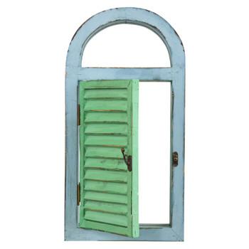 Vintage Window Shutter Mirror - SKU #7024